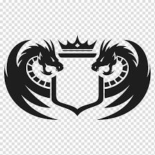 Black Dragon Logo Chinese Water Dragon Logo Graphic Design
