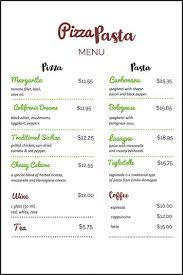 Make A Menu For A Restaurant How To Make Restaurant Menu Magdalene Project Org