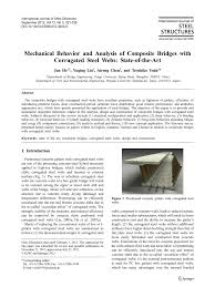 And Corrugated Steel Mechanical Webs State-of-the-art Composite Analysis pdf With Bridges Of Behavior