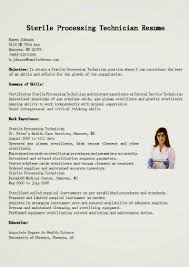sterile processing technician resume example resume template sterile processing  technician resume sample resume template ...