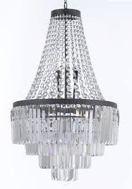 palladium crystal glass fringe 4 tier chandelier lighting h35 w24 com