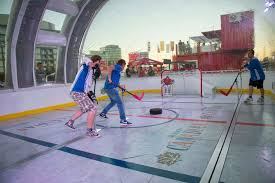 supplied p p the molson canadian human bubble hockey attraction in