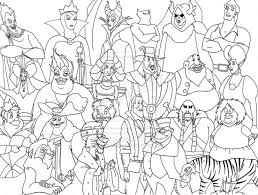 Small Picture Free Disney Villains Coloring Pages Az Coloring Pages within