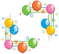 birthday balloons border clip art. Unique Birthday Borders Free Balloon Balloon Clip Art Intended Birthday Balloons Border Art L