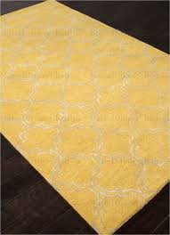 Jaipur Baroque Hampton Hand-Tufted Durable Wool Art Silk Yellow / Ivory  Area Rug