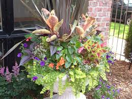 container garden design. Fall+Front+Urn+Ideas | Summer Garden Urn Planter Design Container