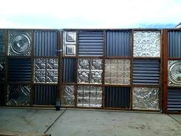 corrugated metal privacy fence panels gate cost corruga