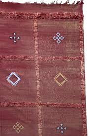 red moroccan rug cactus silk kilim large size
