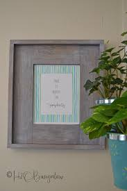 easy diy rustic picture frame more printable frames