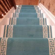 key light blue stair carpet runner
