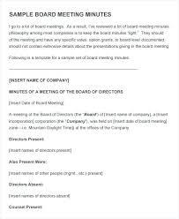 board of directors minutes of meeting template agenda examples for meetings sample agenda business meeting agenda
