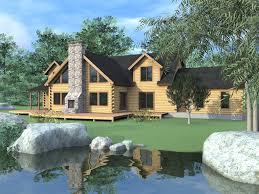 the stonington 03w0033 real log homes rendering