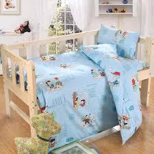 3pcs set cartoon baby crib bedding sets soft cotton bed linen crib set without durable