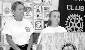 Meredith Hopkins (right) and her mother, Terri Mudd, highlighted the  importance of organ donation at the July 26 meeting of the Bowling Green  Rotary Club. Meredith had a kidney transplant June 28