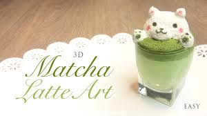how to make 3d latte art matcha green tea paper clay tutorial you