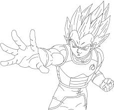 Dragon Ball Z Vegeta Drawing 33 In Vegeta Coloring Pages Coloring