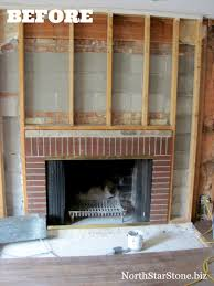 cover brick fireplace with wood does my stone fireplace have to extend the ceili on fireplace