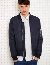 Men's AW13 Fashion Trend: Quilting | FashionBeans & ... Shore Leave Quilted Bomber Jacket In Navy Adamdwight.com