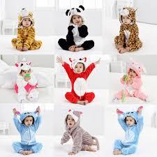 Flannel Boys <b>Girls</b> Animal Rompers 2 3 4 Year Cartoon Panda Cow ...