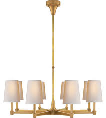 visual comfort tob5046hab np thomas obrien caron 8 light 30 inch hand rubbed antique brass chandelier ceiling light in none