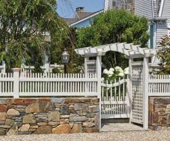 vinyl fence with metal gate. Westchester Picket Fence And Gate With Brookfield Arbor Vinyl Metal N