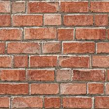 colours red brick wallpaper