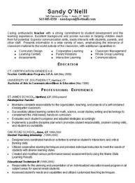 Teacher Resumes Examples Preschool Resume Teacher Resume Example