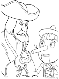 Small Picture Shrek Captain Hook and Pinocchio coloring page