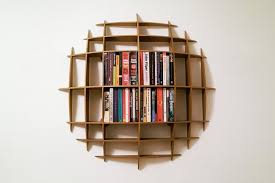 ... Circular Minimalist Unique Bookshelf Design Idea ...