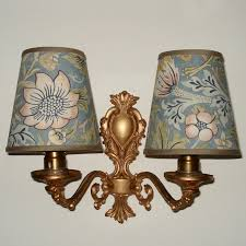 william morris strawberry thief slate small handmade candle clip lampshade for wall lights chandeliers lampshades