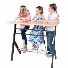 dual standing desk with students