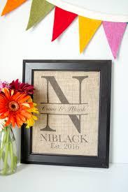 diy wedding monogram gift idea simply print on burlap using ink jet printer