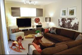 living room color schemes brown couch fl rugs decor decorating