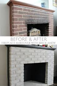 Mantel On Brick Fireplace Best 25 Brick Fireplace Makeover Ideas On Pinterest Painting