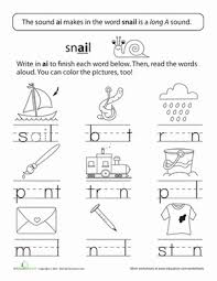 Remind your beginning reader about the difference between the long and the short vowel sound a. Long Vowels Long A In Train Worksheet Education Com