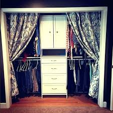 how to hang curtains instead of closet doors curtains instead of closet doors closet curtain ideas