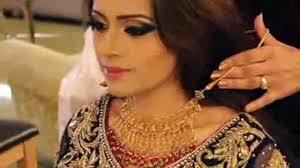 beautiful eyeshadow i bridal makeup and hairstyle on wedding
