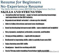The No Experience Resume Style How To C How To Write A