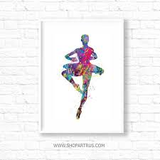 wall decor art dfcabce ballet dancer watercolor painting ballerina painting wall decor ballet