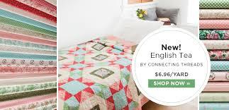 ConnectingThreads.com - Exclusive Quilting Fabric, Quilt Fabric by ... & English Tea Quilting Fabric Collection Adamdwight.com