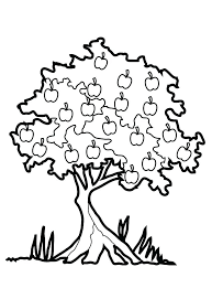 Tree Printable Coloring Page Apple Printable Coloring Pages Coloring
