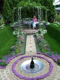 fountain garden. Beautiful Flower Garden With Fountain Emfaiz F