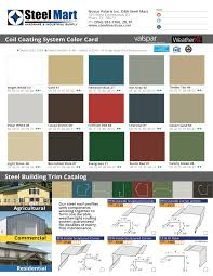 Steel Mart Color Chart And Steel Trim
