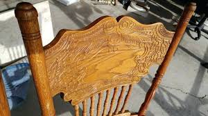 pressed metal furniture. Pressed Back Chairs Antique Oak Kitchen Dining Tall Strong Sturdy Long Valley Traders . Metal Furniture