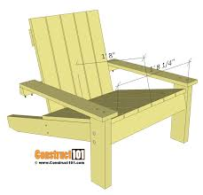 simple adirondack chair plans seat details