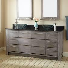 rustic gray bathroom vanities. Rustic Grey Colored Vanity For Impressive Bathroom Ideas With Wooden Framed Mirrors Gray Vanities