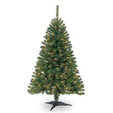 4 Ft. Pre-Lit Hillside Pine Artificial Christmas Tree, Clear Lights by  Ashland