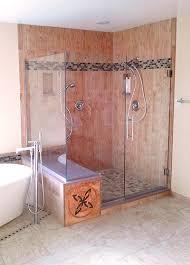 shower remodel glass tiles. Perfect Shower This Shower Remodel Includes Porcelain Wood Grain Tile With Accent Glass  Tile In Shower Remodel Glass Tiles L