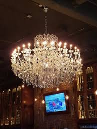 hearsay on the green beautiful chandelier sets the mood