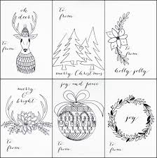FREE PRINTABLE CHRISTMAS TAGS THAT YOU CAN COLOR